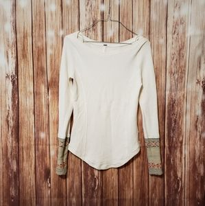 Free people newbie lodge thermal shirt